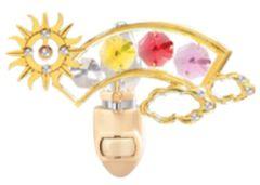 Sunburst/ Rainbow Night Light w/Swarovski Element Crystal