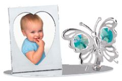 Butterfly Picture Frame w/Swarovski Element Crystal