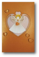Angel Quilled Paper Cards (Set of 3) with envelopes