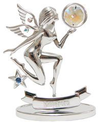Chrome Plated Zodiac (Virgo) on Stand with Swarovski Element Crystal