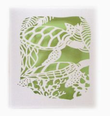 Sea Turtle Laser Cut Paper Cards (Set of 4) with envelopes