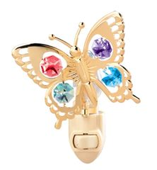 Butterfly Night Light w/Swarovski Element Crystal