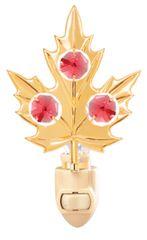 Gold Plated Maple Leaf Night Light w/Swarovski Element Crystal