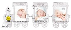 Train Mini Picture Frame (3 Frames) w/Swarovski Element Crystal