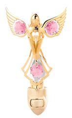 Gold Plated Praying Angel Night Light w/Swarovski Element Crystal