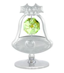Bell on Stand w/Clear Swarovski Element Crystal