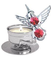 Mini Hummingbird T-Lite Holder w/Swarovski Element Crystal