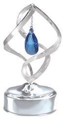 Almond Spiral Music Box w/Swarovski Element Crystal