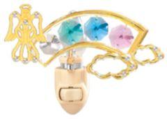 Angel/ Rainbow Night Light w/Swarovski Element Crystal