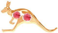 Gold Plated Kangaroo Sun Catcher (Magnet) w/Swarovski Element Crystal
