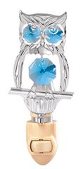 Owl Night Light w/Swarovski Element Crystal