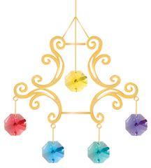 Gold Plated Crown Chandelier Ornament w/ Swarovski Element Crystal