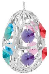 Crystal Egg Ornament w/Mixed Swarovski Element Crystal