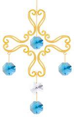 Gold Plated Cross Chandelier Ornament w/Swarovski Element Crystal