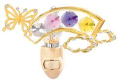 Butterfly/ Rainbow Night Light w/Swarovski Element Crystal
