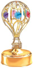 Hot Air Balloon Music Box w/Mixed Swarovski Element Crystal