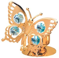 Butterfly T-Lite Holder w/Swarovski Element Crystal