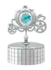 Chrome Plated Carriage Music Box w/Swarovski Element Crystal