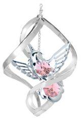 Hummingbird Spiral Ornament w/Swarovski Element Crystals