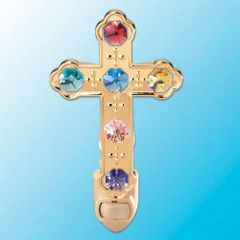 Cross Night Light w/Swarovski Element Crystal
