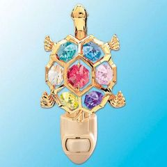 Turtle Night Light w/Swarovski Element Crystal