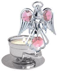Angel with Heart T-Lite Holder w/Swarovski Element Crystal