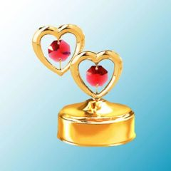 Twin Hearts Music Box w/ Swarovski Element Crystal