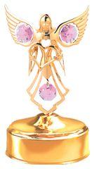 Angel w/Heart Music Box w/ Swarovski Element Crystal
