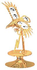 Gold Plated Eagle/Mountain on Stand w/Swarovski Element Crystal