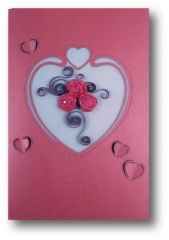 Red Roses Quilled Paper Cards (Set of 3) with envelopes