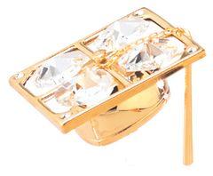 Gold Plated Graduation Cap Sun Catcher (Magnet) w/Swarovski Element Crystal