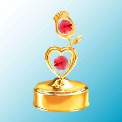 Rose/Heart Music Box w/ Swarovski Element Crystal