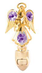 Gold Plated Angel w/Star Night Light w/Swarovski Element Crystal