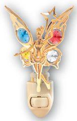 Gold Plated Fairy w/Star Night Light w/Swarovski Element Crystal
