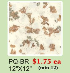 "12"" x 12"" Premium Quality (PQ) Handmade Real Flower Paper - Only $1.75 each (Set of 12 = total $21)"