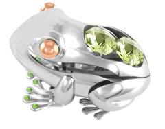 Frog Free Standing w/Swarovski Element Crystal