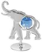 Elephant on Stand w/Blue Swarovski Element Crystal
