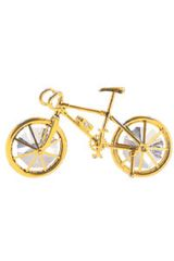 Gold Plated Bicycle Free Standing w/Swarovski Element Crystal
