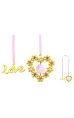 Gold Plated Blooming Heart Bookmark w/Swarovski Element Crystal