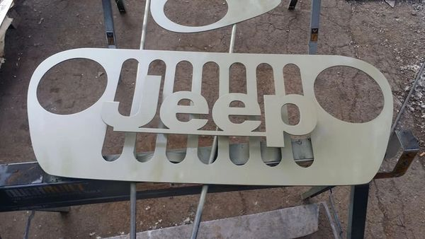3D rased Jeep Grill