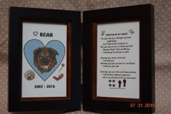Loss of Pet Memorial Poem - Double Frame for Picture and Poem