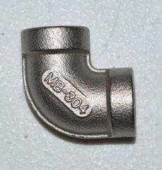 "910 Stainless Steel 90 degree Fitting, 1/2"" NPT"