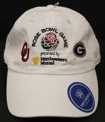 4dc7709f 2018 Rose Bowl Georgia vs Oklahoma Hat White - Adjustable