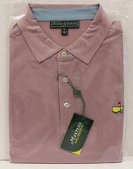 5b7fe7072e0 2017 Masters Collection Pink   Grey Striped Men s Polo