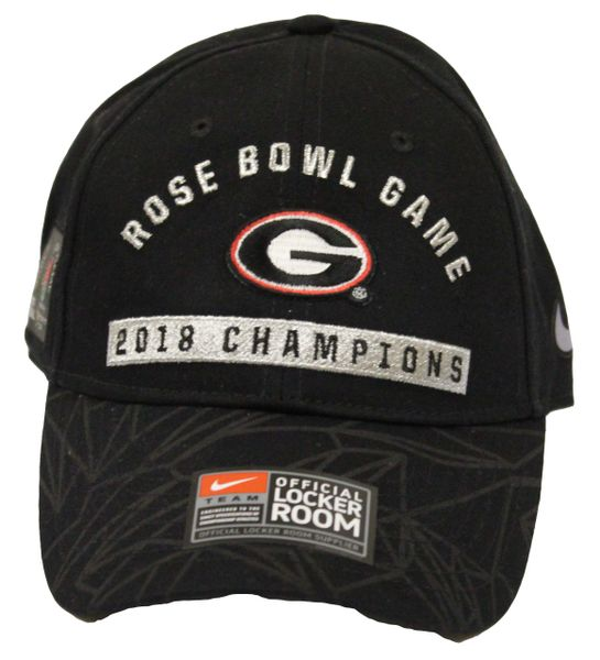 d089c457 UGA Rose Bowl Game 2018 Champions Nike Hat - Adjustable | Quality Sports  Collectibles