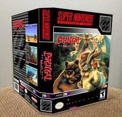 Brutal: Paws of Fury SNES Game Case with Internal Artwork