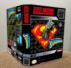 Death and Return of Superman, The SNES Game Case with Internal Artwork