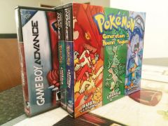 Pokemon Ruby, Sapphire, Emerald Case Bundle WITH CUSTOM SLIP COVER!!!