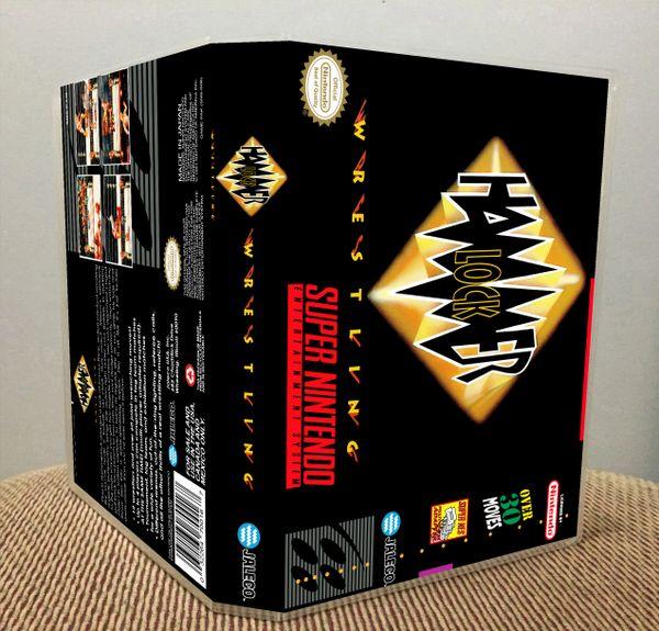 HammerLock Wrestling SNES Game Case with Internal Artwork