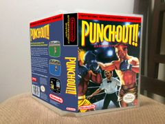 Punch-Out!! NES Game Case with Internal Artwork